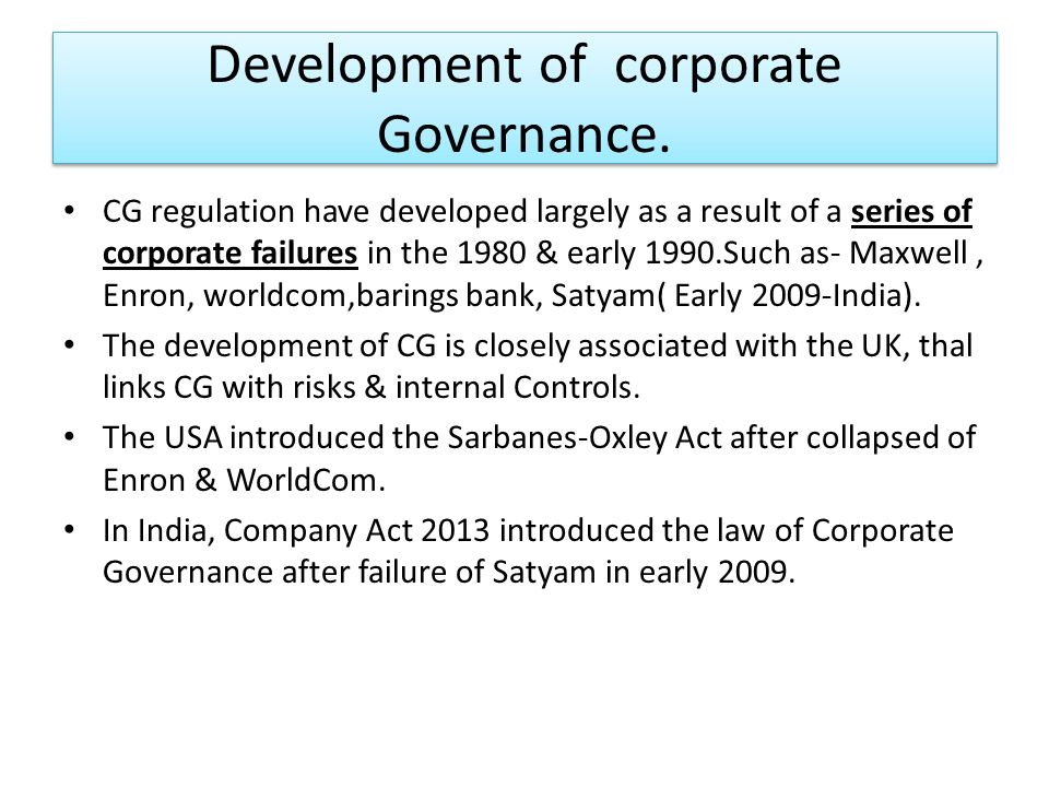 corporate governance failure at satyam essay The high profile corporate governance failure scams like the stock market scam,  the uti scam, ketan parikh scam, satyam scam, which was.