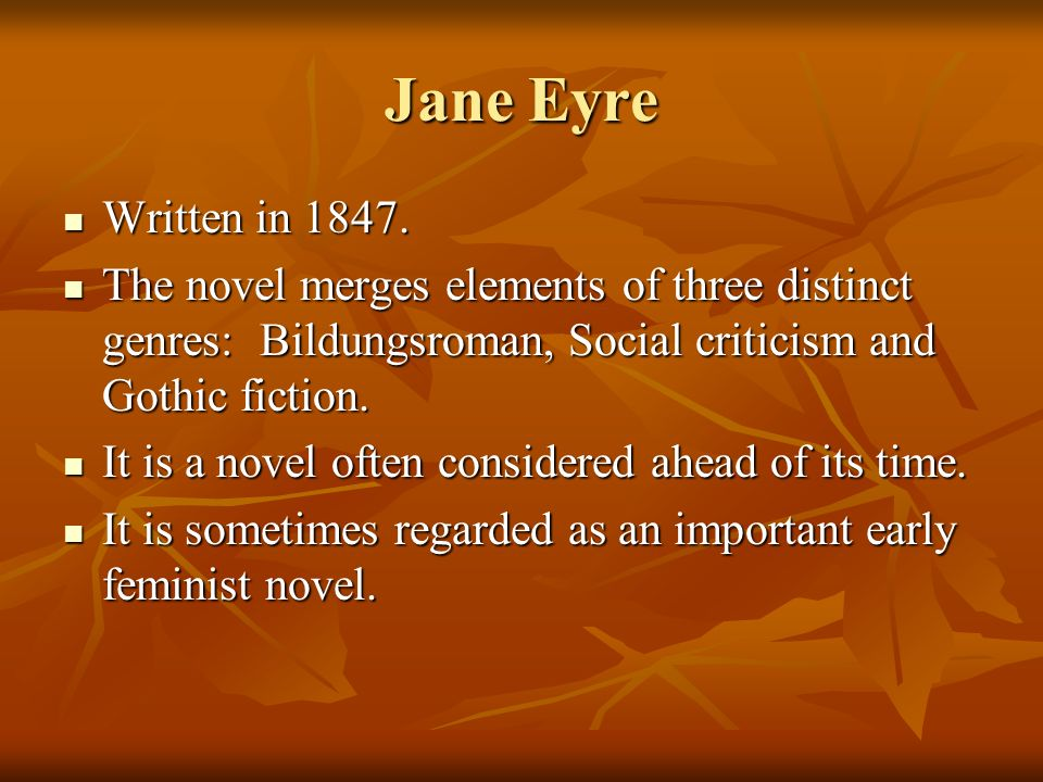 a literary analysis of feminism in jane erye by charlotte bronte Charlotte bronte and jane eyre - social conscience and feminism in victorian literature.