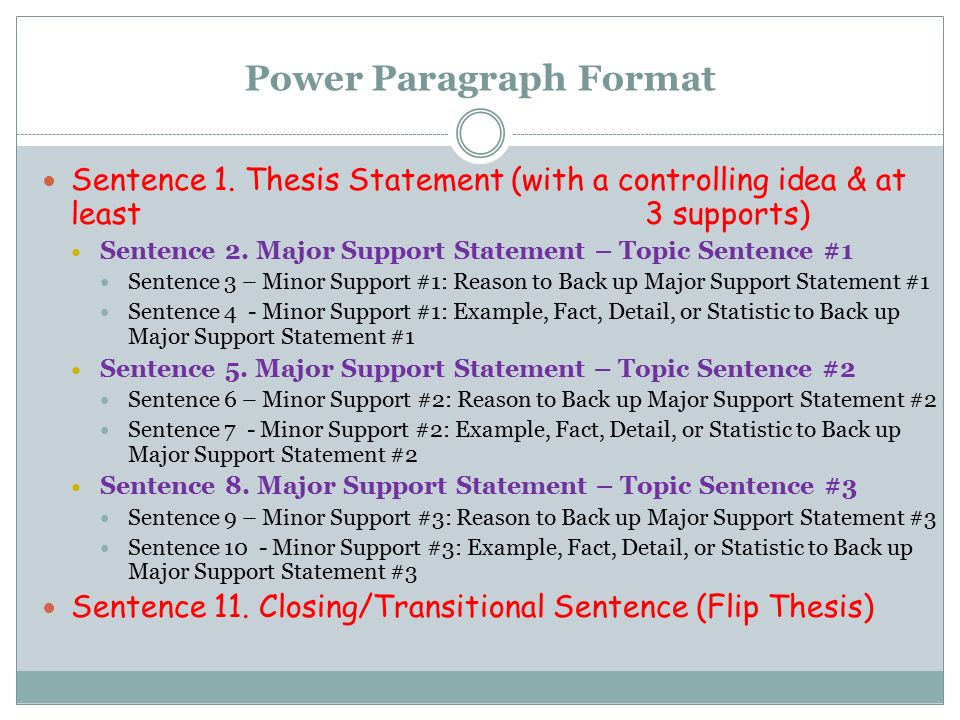 "how many sentences make up a thesis statement Directions: this web page explains the different parts to a thesis statement and  helps you  the ""topic"" of your essay is the general category your essay is about   what general reasons why your position may have problems can you admit up  front  in one or two sentences, present your thesis, including a qualification,."
