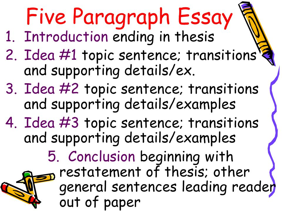 5 paragraph essay autobiography After completing the book and the notes, you will write an essay to illustrate your understanding your essay will take the form of a biographical sketch that follows the five-paragraph (popsicle stick) method.