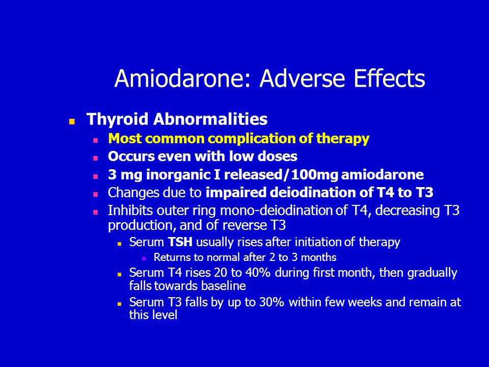 Effect of quinine on thyroid