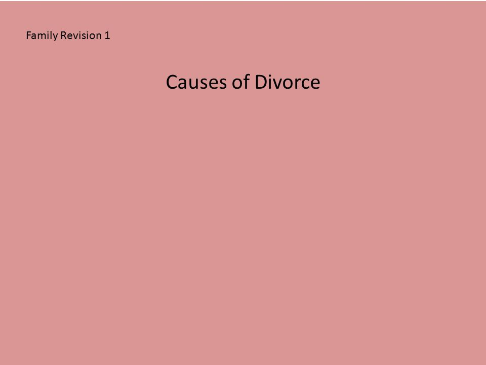 divorce is the cause of family breakdown A guide to financial arrangements after marriage breakdown separating your finances following divorce or judicial separation matrimonial causes act 1973.