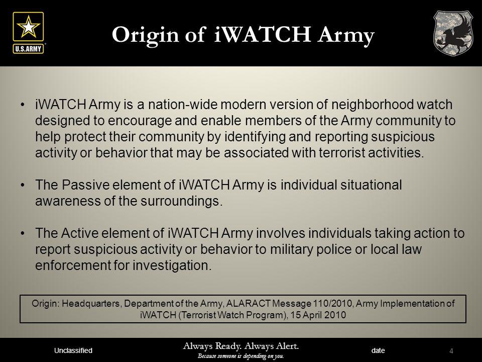 Origin of iWATCH Army