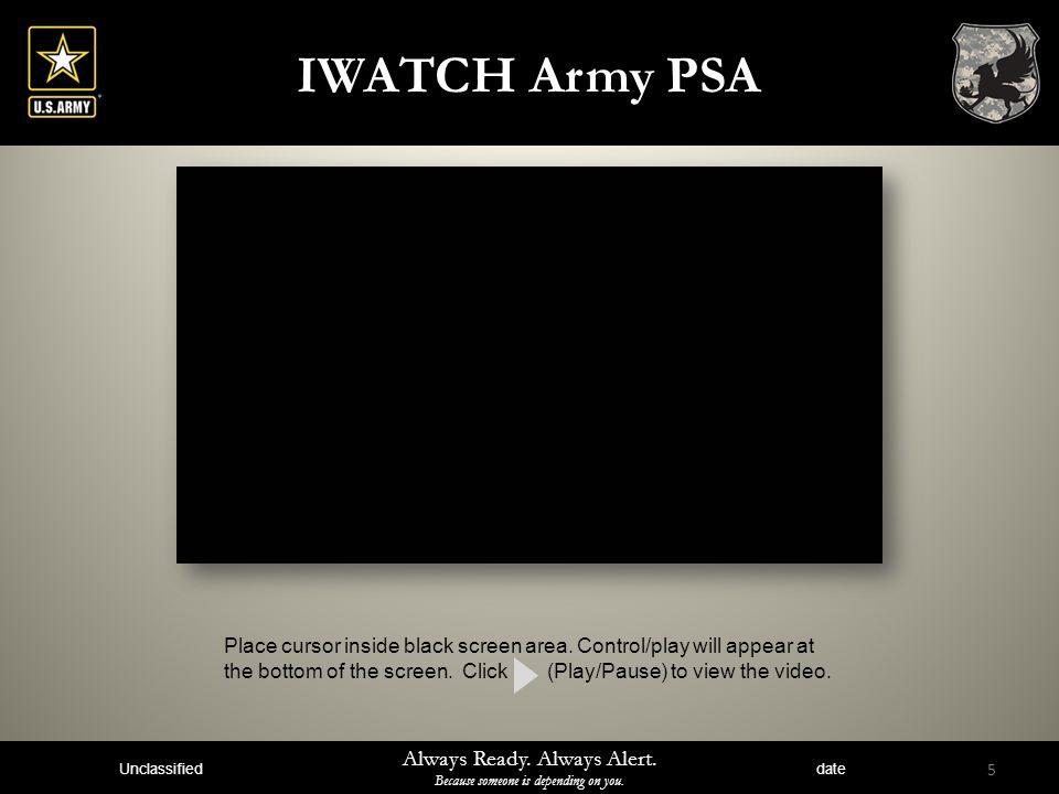IWATCH Army PSA