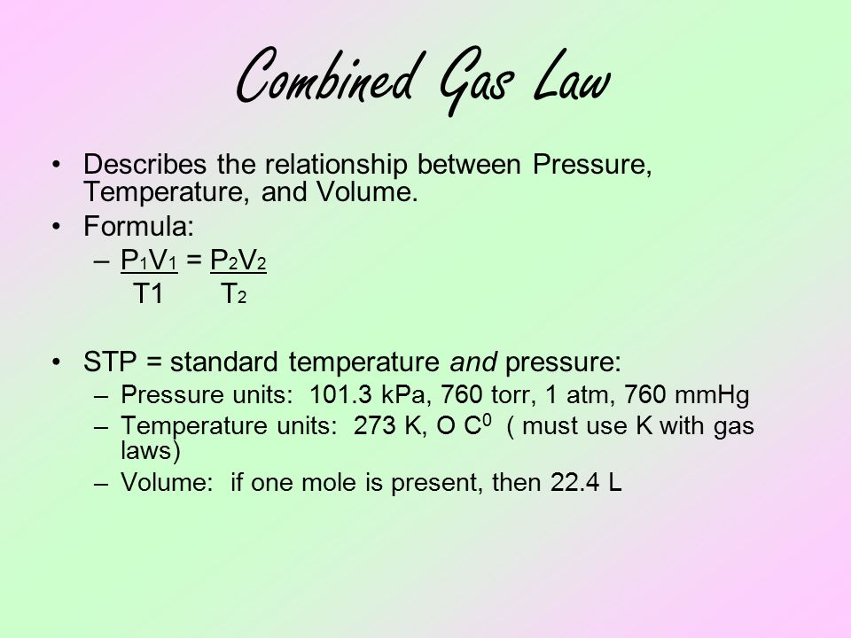atmospheric pressure and temperature relationship formula