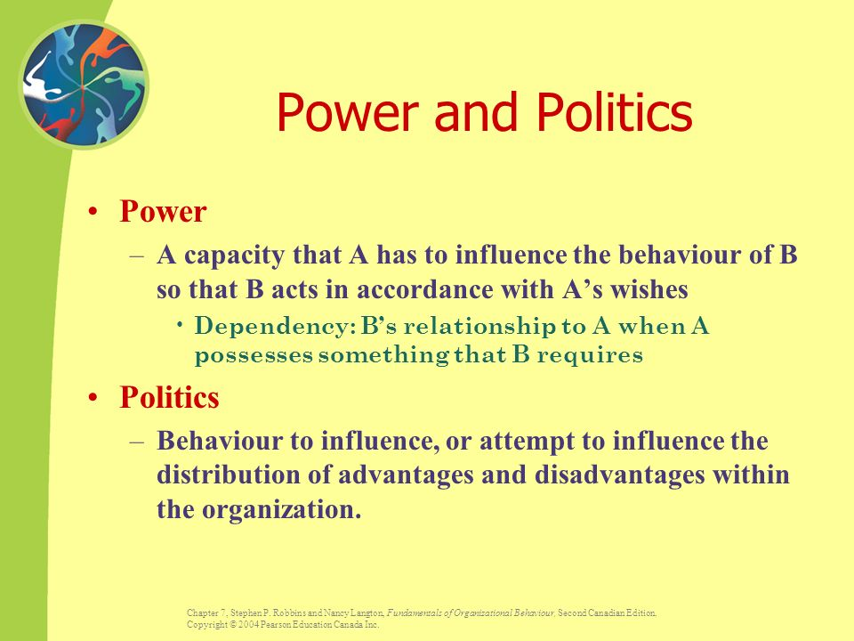 power politics and leadership in the organization Leadership as a function of power proposalmanagement h  function of power gary yukl's research on leadership provides us with insights  to the organization,.