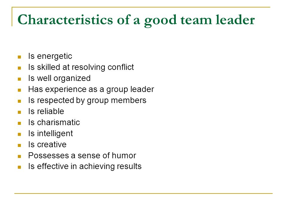 What Makes for An Effective Leader?