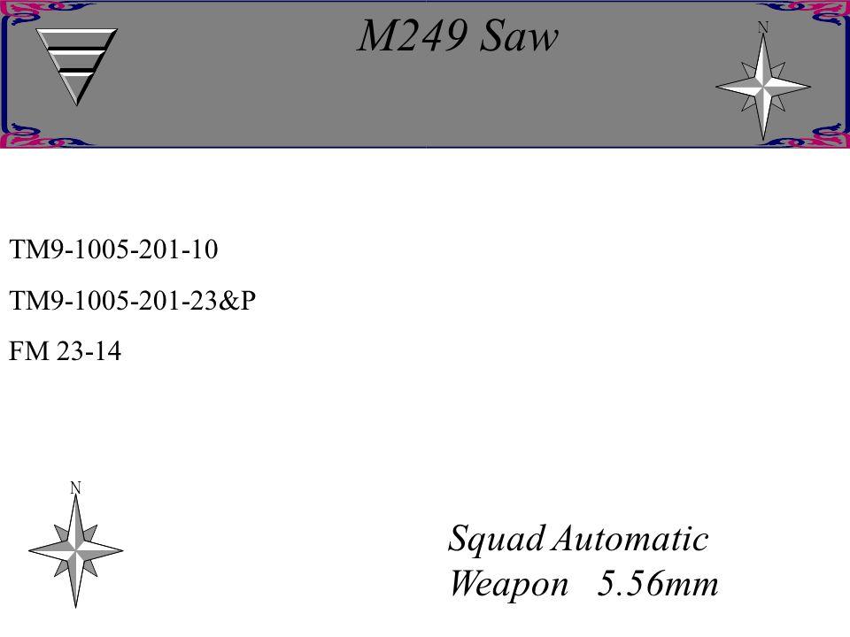 M249 Saw Squad Automatic Weapon 5.56mm TM9-1005-201-10