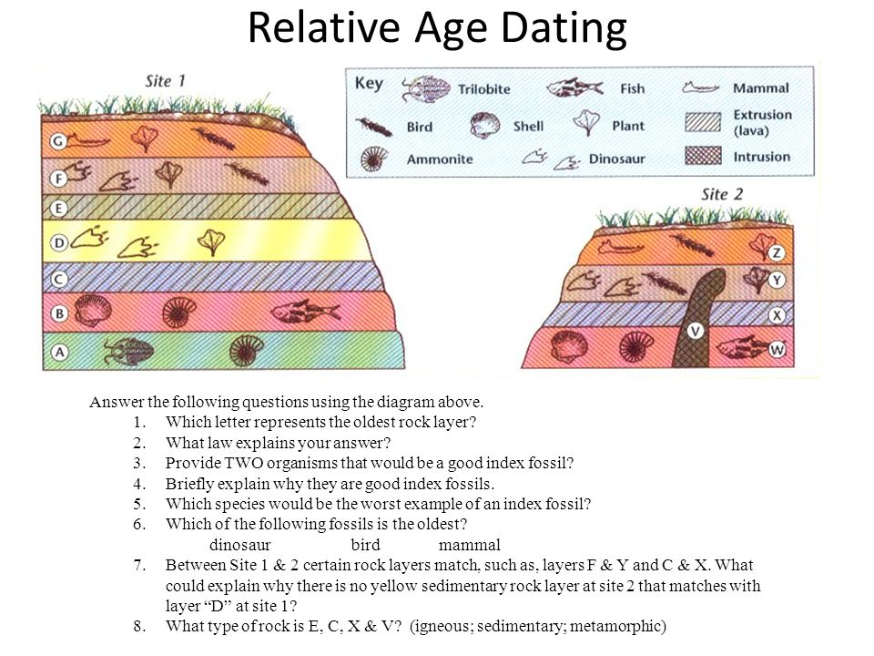 what are two types of dating fossils Scientists combine several well-tested techniques to find out the ages of fossils the most important are relative dating, in which fossils and layers of rock are placed in order from older.