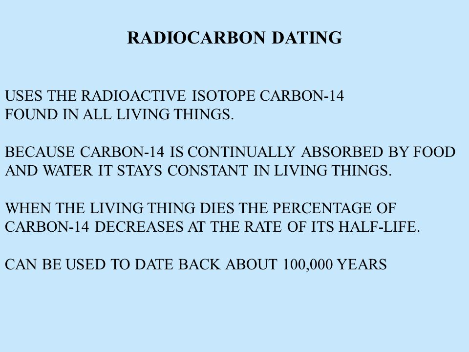 isotopes used in geological dating The rate group: radioisotopes and the age of the earth (rate) you can't use radiometric dating to date an igneous rock younger than.