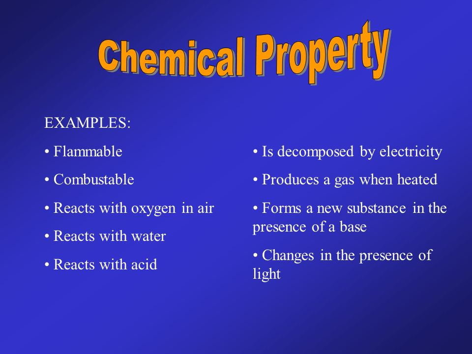 Distinguish Between Physical And Chemical Properties