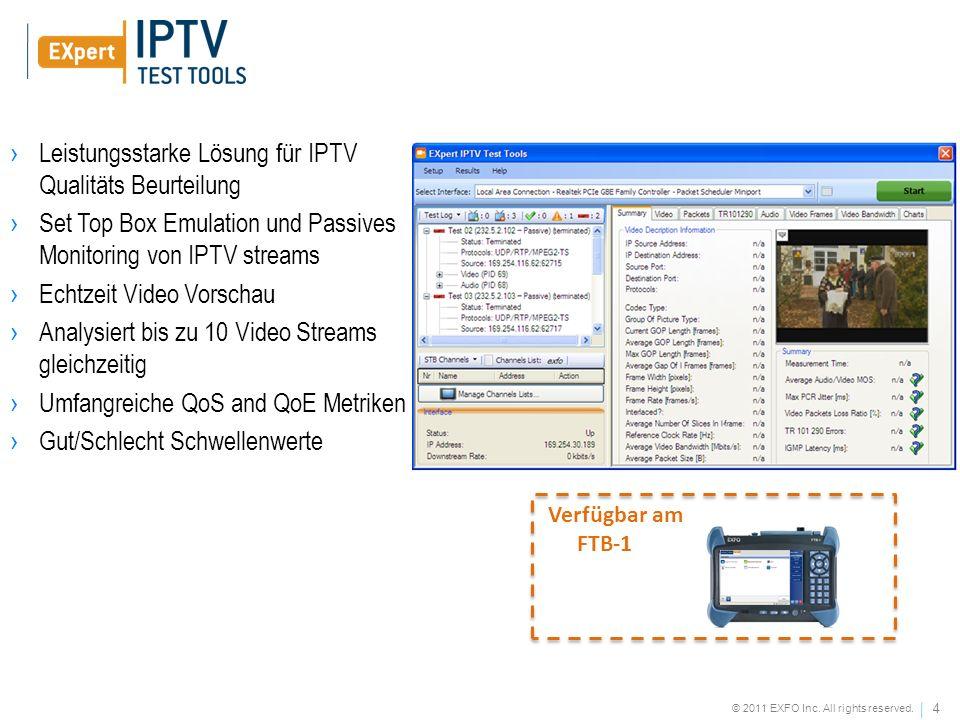Leistungsstarke Lösung für IPTV Qualitäts Beurteilung