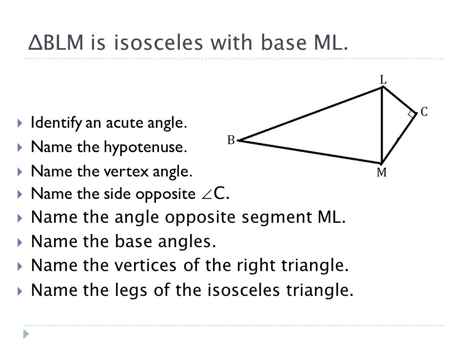 Right Angle Base : Classifying triangles ppt download