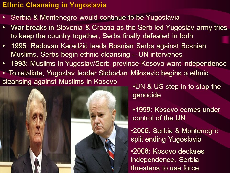 3 Ethnic Cleansing in Yugoslavia