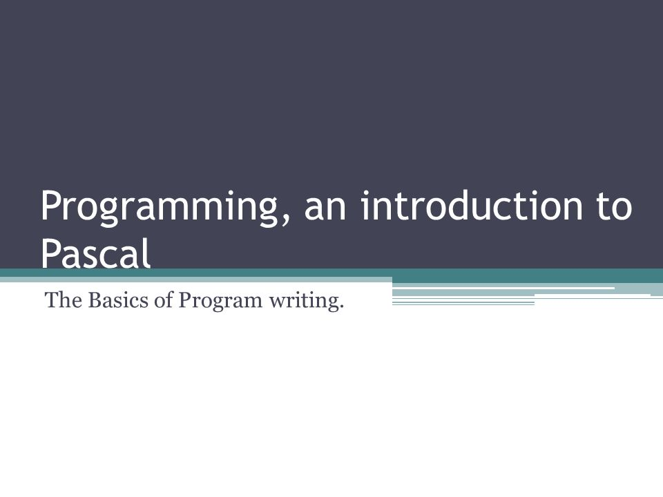 introduction to programming in pascal pdf