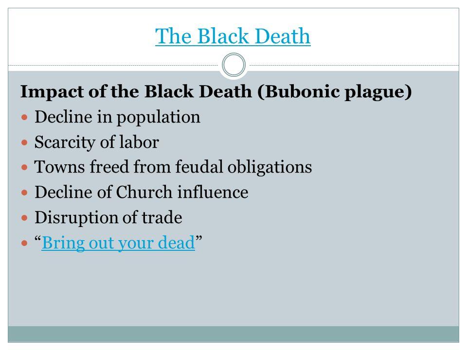 The Black Death Impact of the Black Death (Bubonic plague)