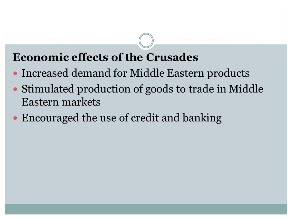 Economic effects of the Crusades