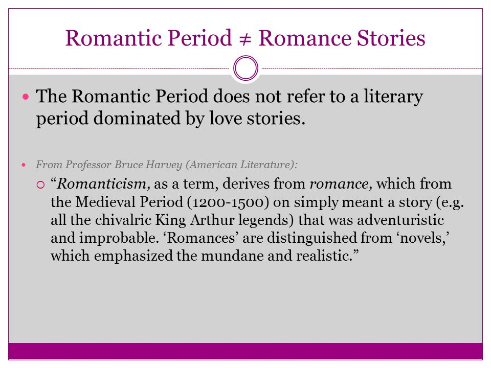 an introduction to the american romantic period of literature American literature : jordan sylar: home literary time periods literary terms the romantic period 1830-1870 introduction.