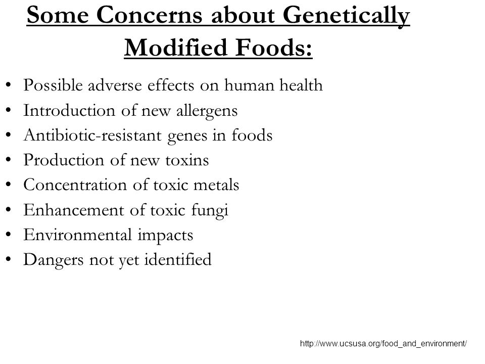 Adverse Health Effects Of Genetically Modified Foods