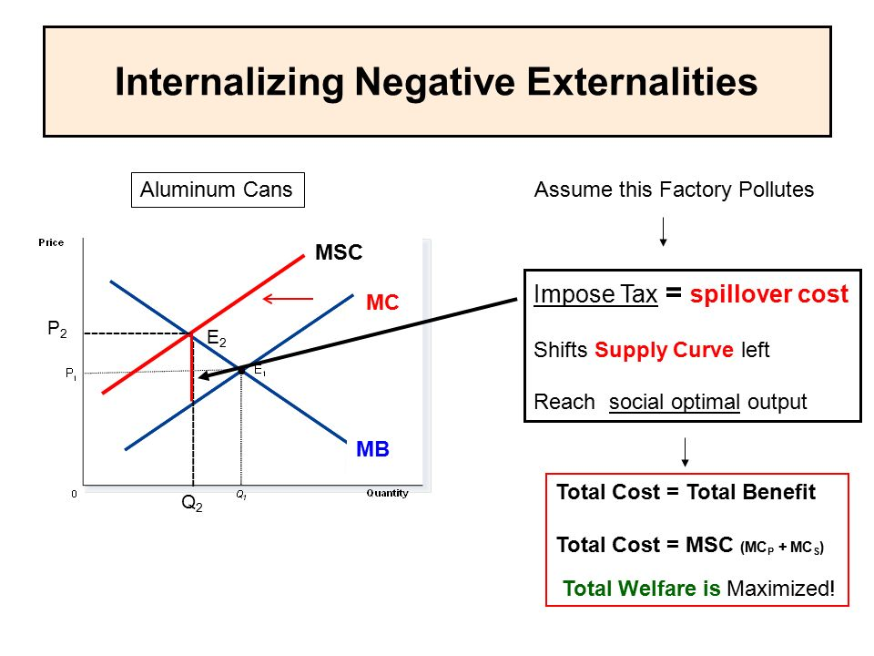 Internalizing Negative Externalities