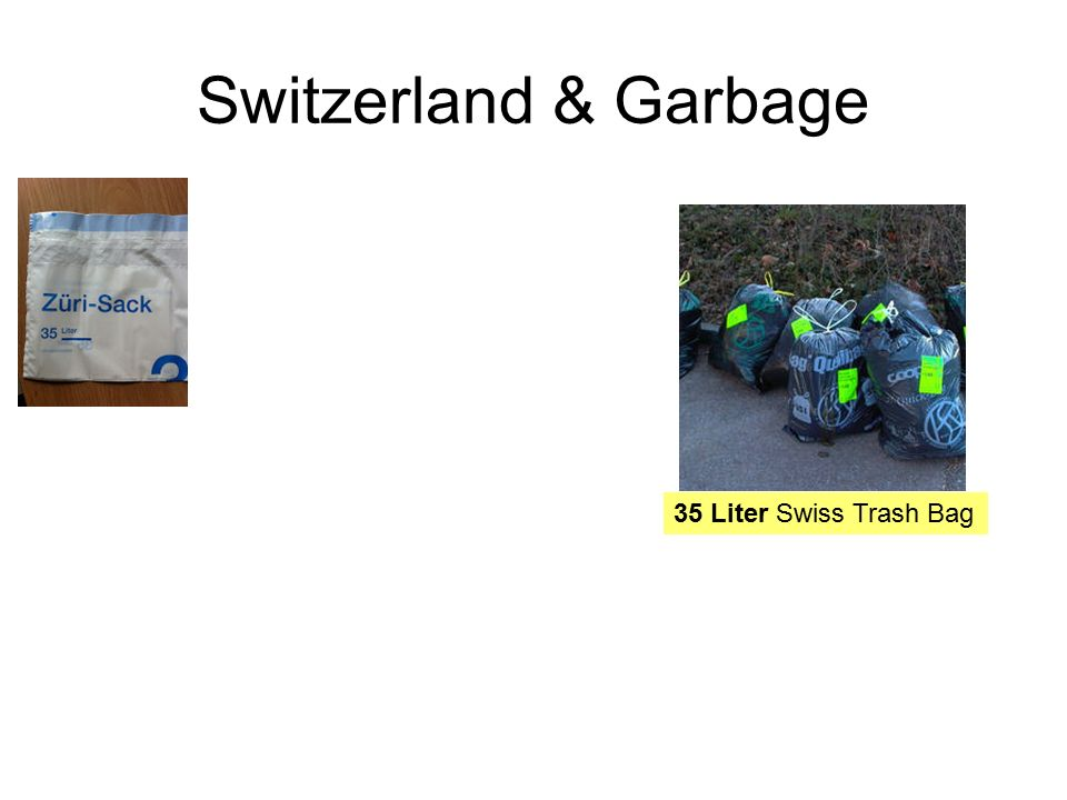Switzerland & Garbage 35 Liter Swiss Trash Bag