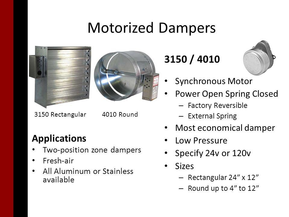 Motorized Dampers Ppt Video Online Download