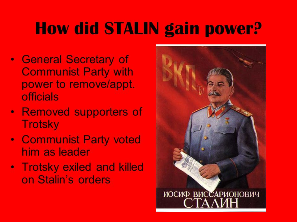 stalins position as general secretary was To what extent was it stalin's position as general secretary that allowed him to defeat his rivals in the years 1924-9 it can be argued that stalin's position as general secretary is a main reason why he defeated his rivals in the years 1924-9.