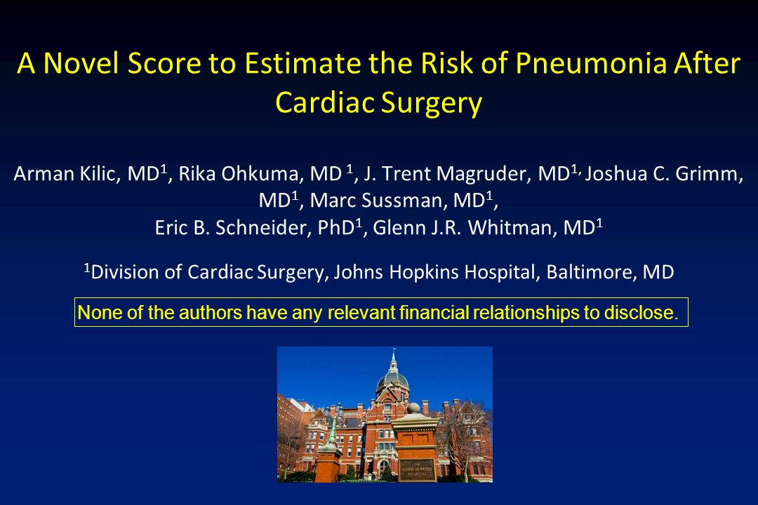 A Novel Score to Estimate the Risk of Pneumonia After Cardiac Surgery