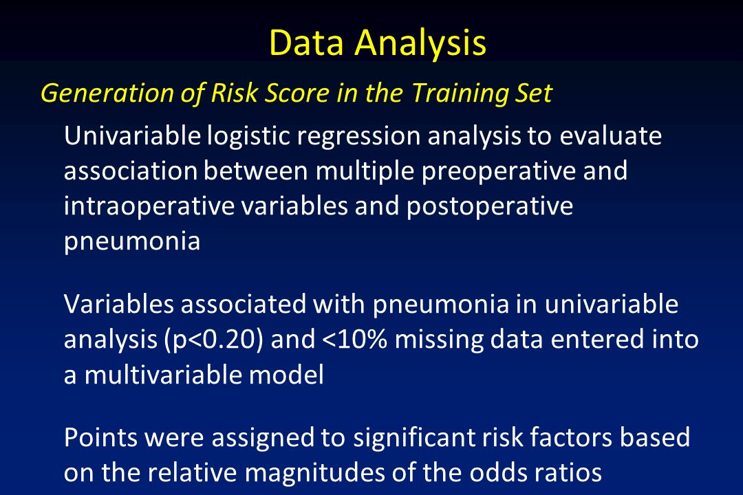 Data Analysis Generation of Risk Score in the Training Set