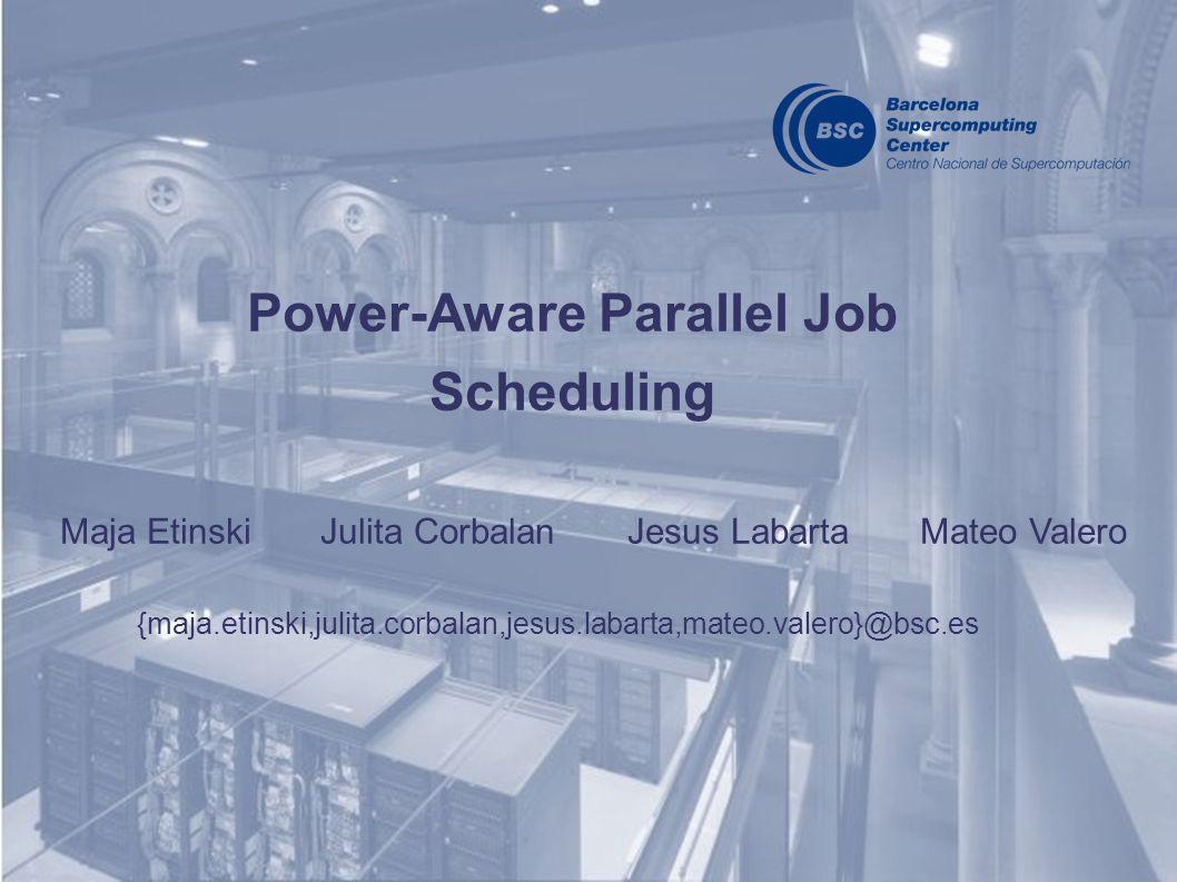 Power-Aware Parallel Job Scheduling