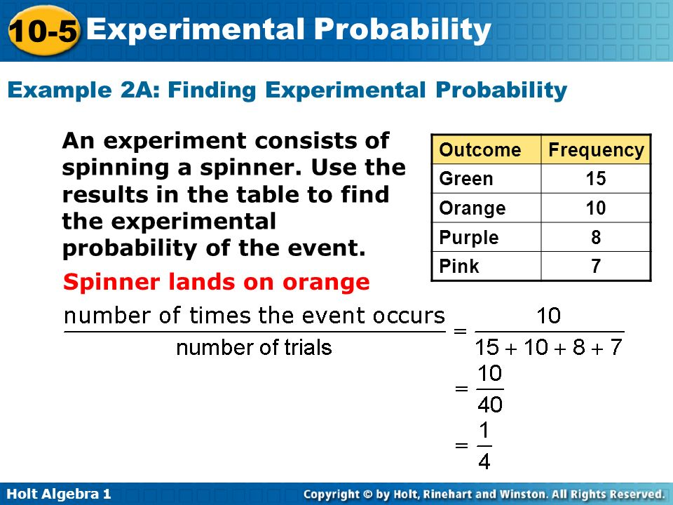 experimenting with the probability of things