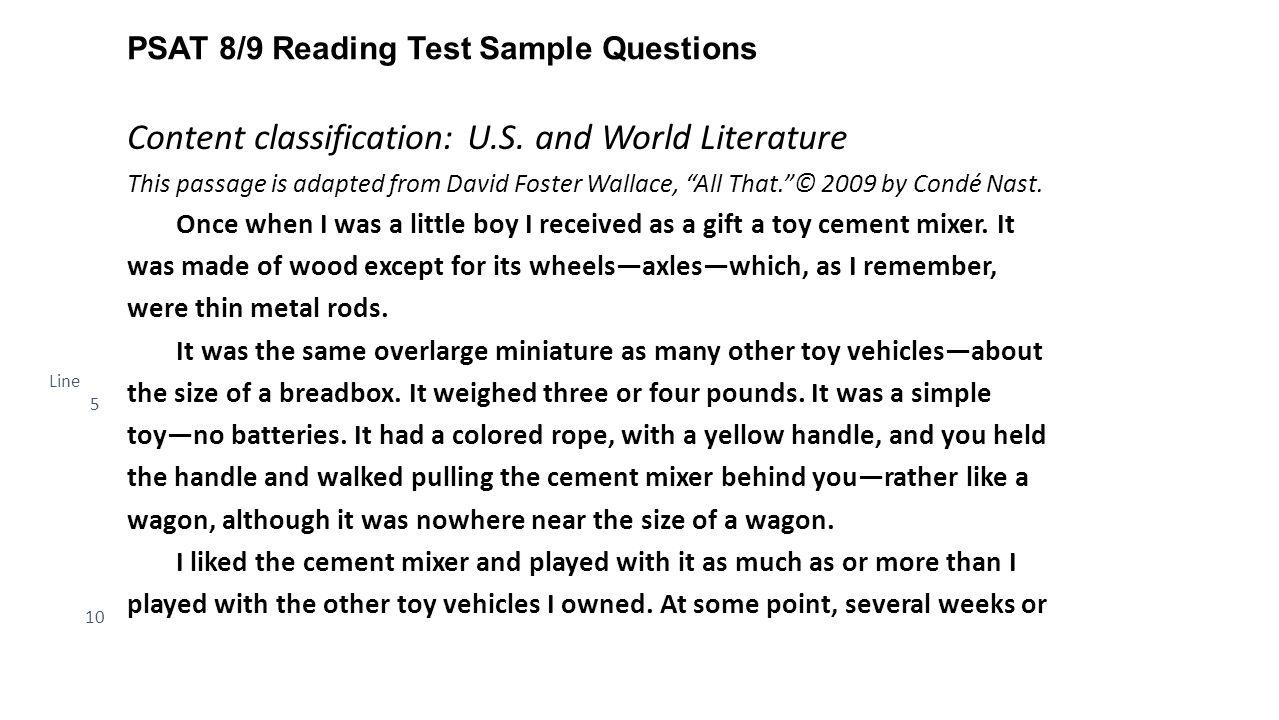 Assessment Brief: PSAT™ 8/9 - ppt download