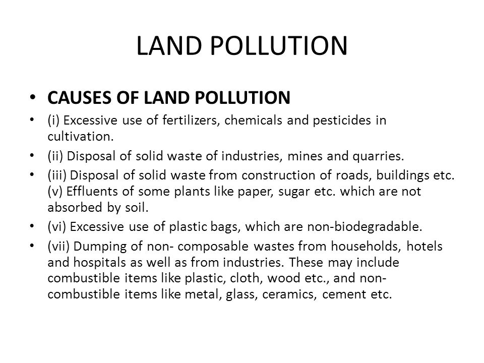 Ecological issues and business ppt video online download for Soil pollution definition