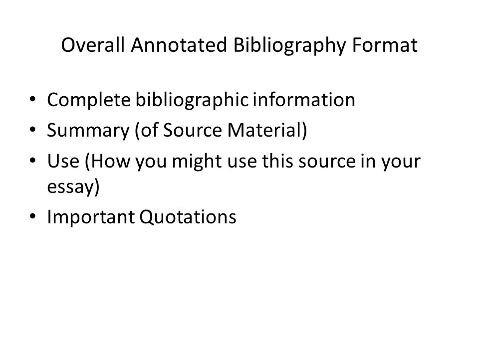 how might you use annotated bibliography in your academic writing Guide to writing an annotated bibliography why do we write annotated bibliographies you may be asked to write an annotated bibliography for several reasons: what if you are accused of academic dishonesty how can i avoid plagiarism.