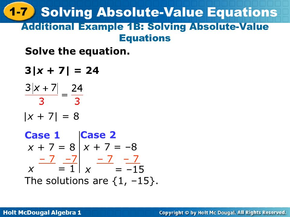 Rewriting absolute value expressions with variables