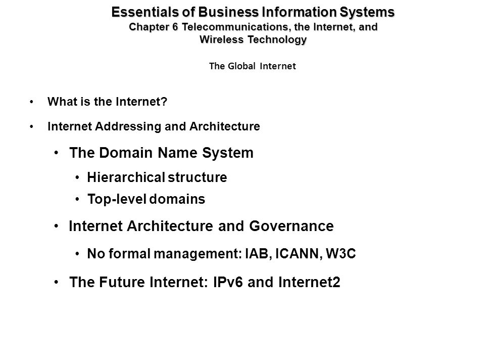 Internet Architecture and Governance