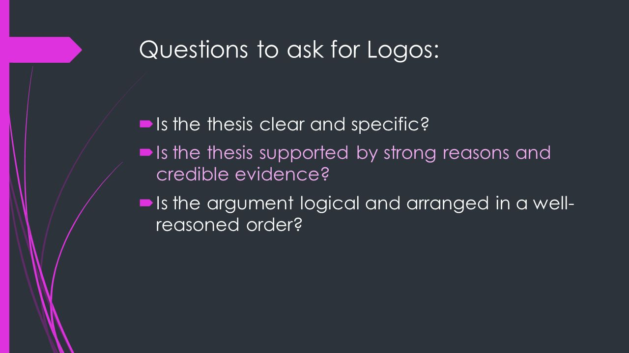 Questions to ask for Logos: