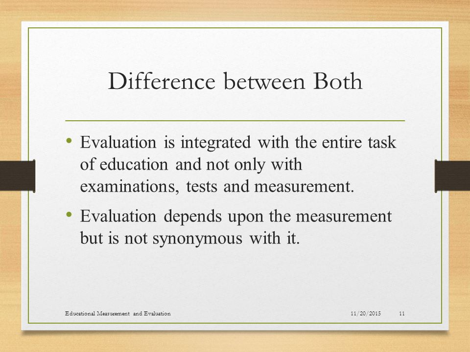 relationship between test measurement assessment and evaluation