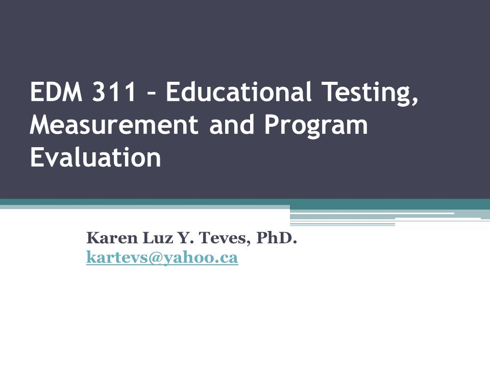 testing measurement and evaluation in education