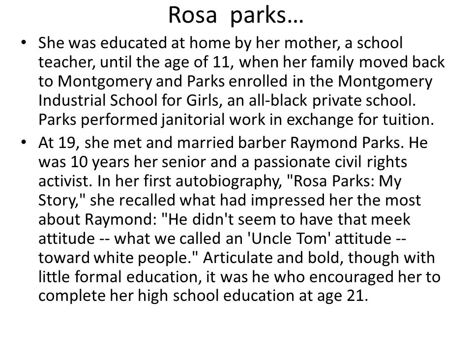 rosa parks my story Fireside is a short story magazine that has two goals in mind: publish great  the  sun is a beautiful, ad free, magazine that publishes writing with a literary bent.