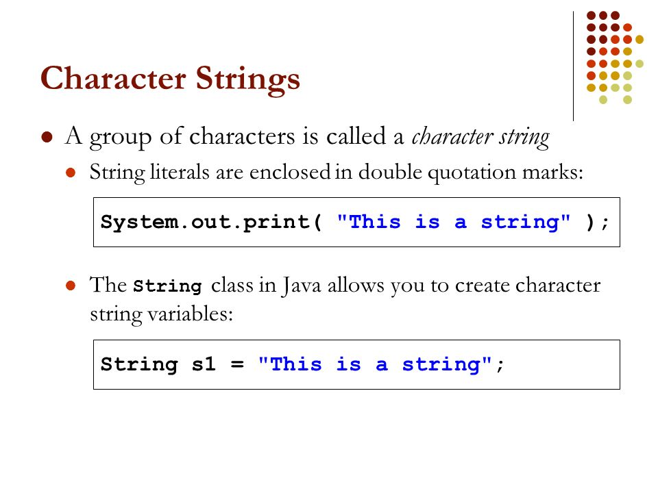 how to create a varabile that contains strings
