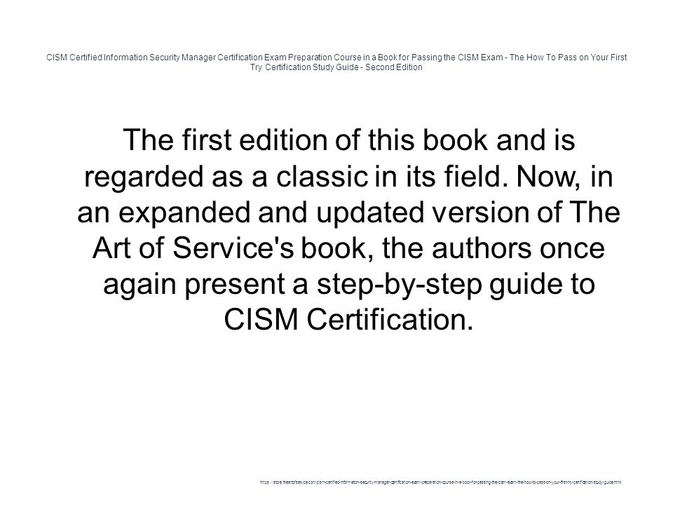 CISM Certified Information Security Manager Certification Exam ...