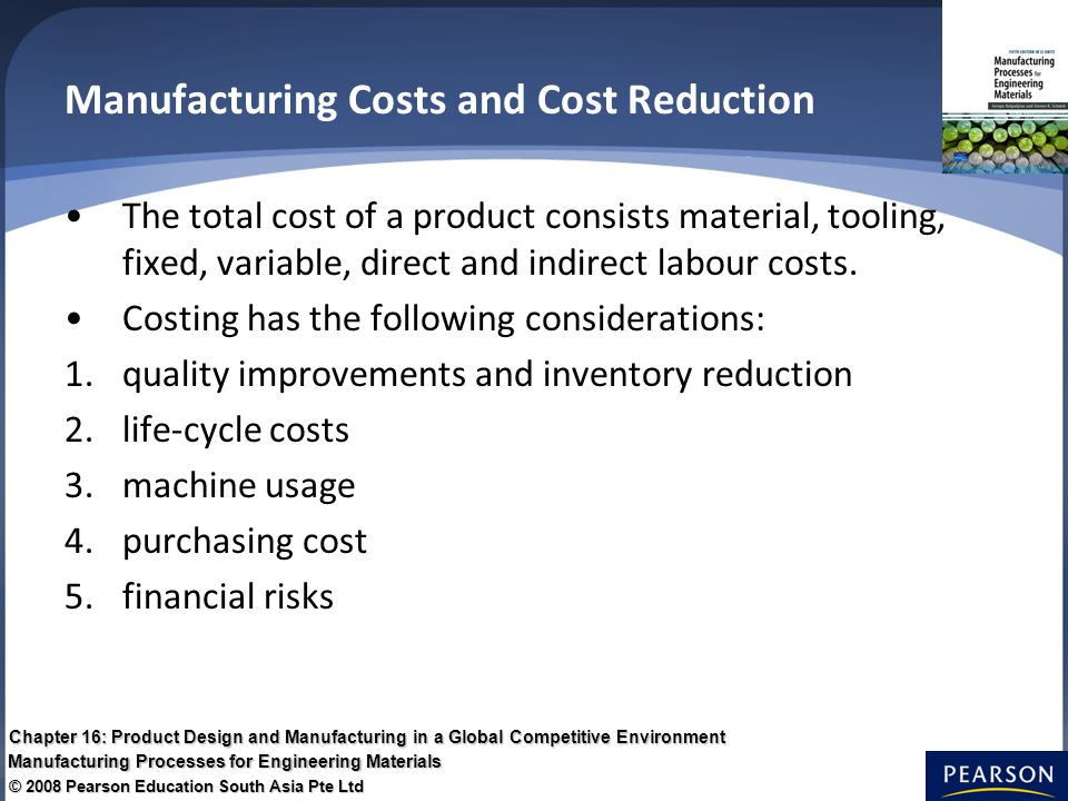 cost reduction control in manufacturing The impact of cost control on manufacturing industries' profitability siyanbola, trimisiu tunji,  than embarking on unscientific cost reduction that may.