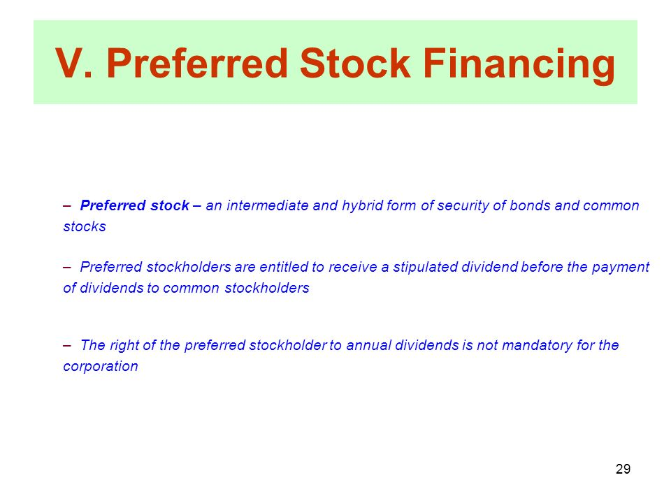 preferred stock a hybrid form of The hybrid nature of preferred shares: equity or liability/debt  that is,  regardless of the legal form, analysis of the essential characteristics of a.