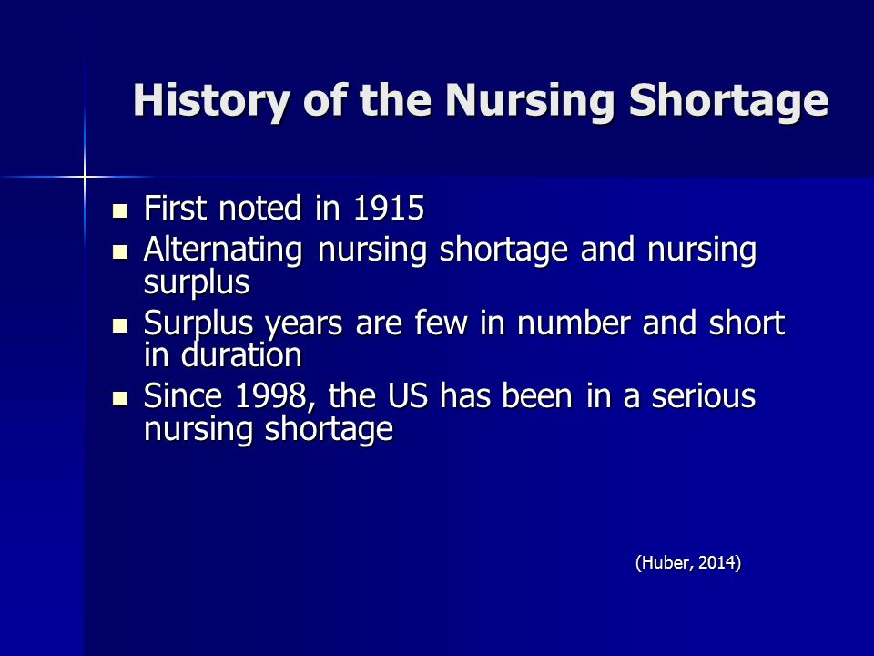 the nursing shortage the need for The need is most acute in specializations such as nurse anesthetist, nurse educator and psychiatric nurse the nursing shortage dates back to the turn of the 21st century.