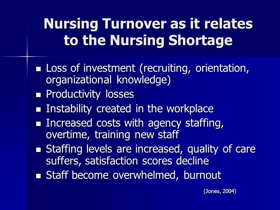 Nursing Shortage and Nursing Turnover Essay Sample