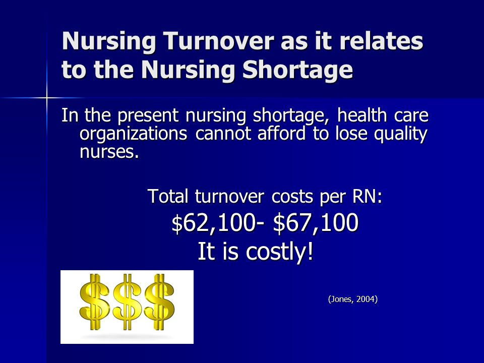 nursing shortages and turnovers is a