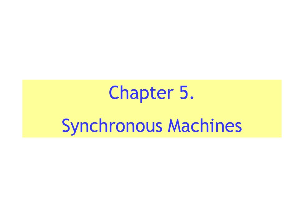 synchoronous machines A same synchronous machine can be used as a synchronous motor or as an alternator synchronous motors are available in a wide range.