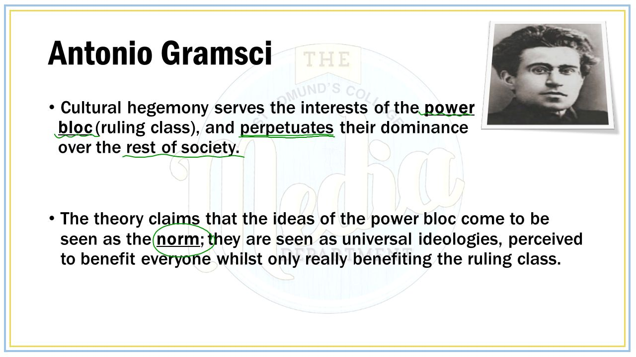 gramscis theory of hegemony essay It appears that gramsci's theory of hegemony not only helps us to understand the motivations behind racist images in this essay was writen in november.