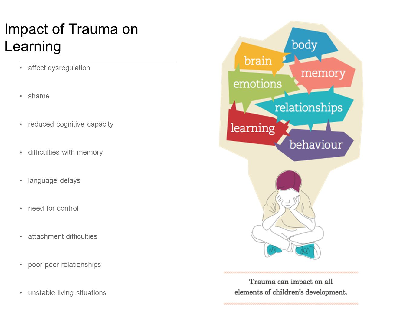 brain development and trauma in relationship to attachment